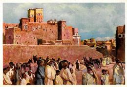 [DC11071] CPA - MAROCCO - CASBAH DEL SUD - AQUARELLE DE SCHMIDT - Non Viaggiata - Old Postcard - Marocco