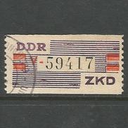 DDR. Vertrauliche Dienstsache ZKD  Nr. IV V, Gestempelt Geprüft VP - Dienstpost
