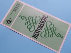HISTORISCHE ( Nr.10 ) / Afstempeling BRUSSEL 11-6-1977 ( Folder ) ! - Belgique