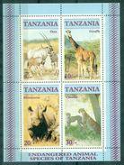 TANZANIE Animaux BF 47 Nxx Dont Giraffe , Rhinocéros Etc... TB Cote : 9 € - Stamps