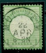 Deutsches Reich. Adler Mit Kleinem Brustschild, Nr. 7, Vollstempel - Gebraucht