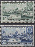 AFRIQUE  EQUATORIALE  FRANCAISE  N°90/91__NEUF*  VOIR  SCAN - A.E.F. (1936-1958)