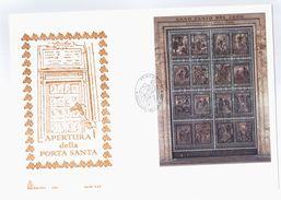 FDC CAPITOLIUM - VATICANO - BUSTA GRANDE - 1999 - APERTURA DELLA PORTA SANTA - FDC