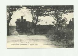 17 - ILE D'OLERON - SAINT DENIS Départ Du Tram Animé Tram Attelage Moulin Bon état - Ile D'Oléron