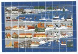 Denmark Christmas Sheet 1986 Kalundborg  # 1 Issue. Animals, Ship,Train,Railway. - Full Sheets & Multiples