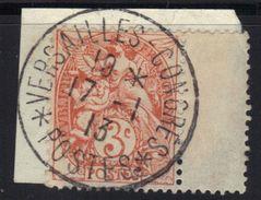 Oblitération Versailles Congrès 1913 Sur Blanc N°109. - 1900-29 Blanc