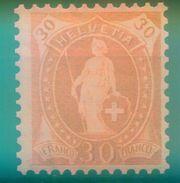 Nr. 76 C Ungebraucht Stehende Helvetia 30 C - 1882-1906 Armoiries, Helvetia Debout & UPU