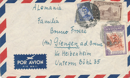 URUGUAY - 1952 , Brief Nach Giengen / Brenz - Uruguay