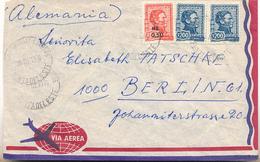 URUGUAY - 1976 , Brief Nach Berlin - Uruguay