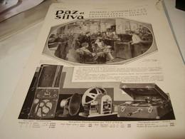 ANCIENNE PUBLICITE TSF ET PHONOGRAPHE  PAZ ET SILVA  1930 - Plakate & Poster