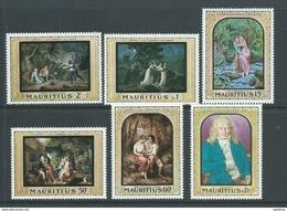 Mauritius 1968 Bernardin De St Pierre Paintings Set Of 6 MNH - Mauritius (1968-...)