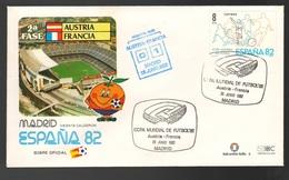 Espana Spagna Mundial Futbol Madrid 1982 Austria > Francia  FDC Football Soccer Calcio - FDC