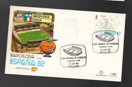 Espana Spagna Mundial Futbol Barcellona 1982 Argentina > Italia FDC Football Soccer Calcio - FDC