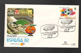 Espana Spagna Mundial Futbol Madrid 1982 Austria > Irlanda FDC Football Soccer Calcio - FDC