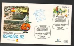 Espana Spagna Mundial Futbol Madrid 1982 Inghilterra > Spagna FDC Football Soccer Calcio - FDC