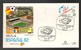Espana Spagna Mundial Futbol Barcelona 1982 Polonia > Italia Semifinale FDC Football Soccer Calcio - FDC