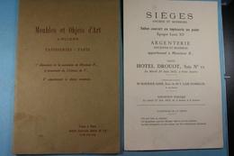 Vente à Paris Hôtel Drouot Meubles Et Objets D'Art Anciens Tapisseries Tapis 1932 - Art