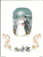 TELEGRAMME TELEGRAM DE LUXE ALLEMAGNE BUNDESPOST MARIAGE CALECHE ANGE FLEUR - Autres