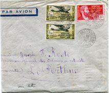 A. E. F. LETTRE PAR AVION  DEPART BRAZZAVILLE 12 DEC 39 MOYEN-CONGO POUR LA FRANCE - Brieven En Documenten