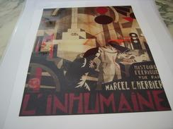 ANCIENNE PUBLICITE  ART DECO DE MARCEL L HERBIER FILM L INHUMAIN  1924 - Other Collections