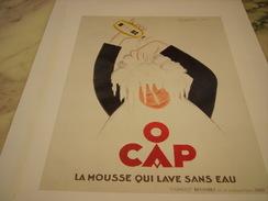ANCIENNE PUBLICITE  ART DECO DE LEONETTO CAPPIELLO MOUSSE POUR CHEVEUX O CAP 1930 - Autres