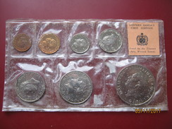 Western Samoa 1967 7 Coin Set 1 Sene - 1 Tala Dollar In Sealed Pack First Decimal Coinage UNC 2 - Samoa