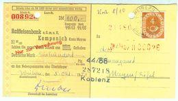 Seltene Verwendung EF Nr. 124 Auf Scheck Als Drucksache Aus Weibern - BRD