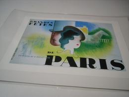 ANCIENNE PUBLICITE  ART DECO DE JEAN CARLU GRANDES FETE DE PARIS 1934 - Publicité