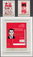 ALBANIA 1981, 40 Years ALBANIAN WORKERS PARTY, ENVER HOXHA, COMPLETE, MNH SET+Block, GOOD QUALITY, *** - Albania