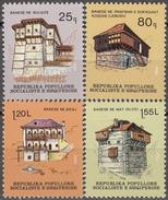 ALBANIA 1982, ARCHITECTURE, OLD MOUNTAIN HOUSES, COMPLETE, MNH SET, GOOD QUALITY, *** - Albania