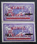 SURCHARGE 1922 - PAIRE NEUVE ** - YT 85 - MI 120 - GOMME D'ORIGINE INTACTE ! - RARE EN PAIRE - Nuovi