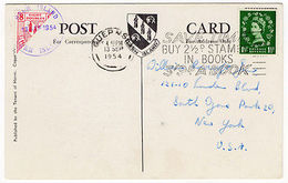 (I.B-JA) Cinderella Collection : Herm Island 8d Bisect (Map Postcard) - Ohne Zuordnung