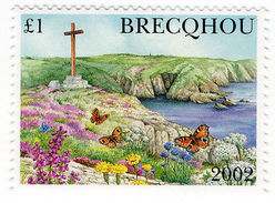 (I.B-JA) Guernsey Cinderella : Brecqhou Island £1 - Zonder Classificatie