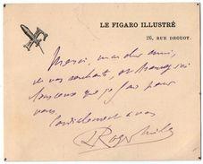 VP11.387 - PARIS -  Autographe De Mr Roger MILES Historien & Critique D'Arts Rédacteur En Chef De La Revue Le Figaro - Autographs