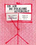 63- PARTITION MUSICALE- UN AIR DU FOLKLORE AUVERGNAT-AUVERGNE-MAURICE CHORENSLUP-1931- - Partitions Musicales Anciennes