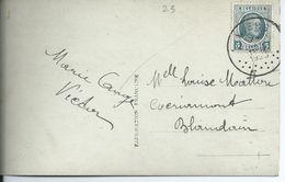 Fantasiekaart Met OCB 193 - Afstempeling WIERS - 1922-1927 Houyoux