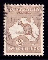 Australia 1915 Kangaroo 2/-Light Brown 2nd Watermark Used - 1913-48 Kangaroos