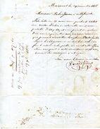 81.TARN.MAZAMET.LAINES & DRAPERIES.DURAND FRERES.TIMBRE & CACHET 1866. - France