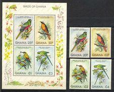 Ghana, Yvert 700/703+BF86, Scott 746/749+750, MNH - Ghana (1957-...)