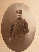 Ancienne Grande Photo Photographie Militaire Turc ? Soldat,uniforme,medaille Turkish Soldier Photo Francis Paris N° 1 - Guerre, Militaire