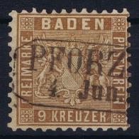 Baden Mi Nr 15 C Perfo 10   Obl./Gestempelt/used  1862 - Baden