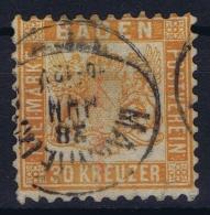 Baden Mi Nr 22 B   Obl./Gestempelt/used  Signed/ Signé/signiert Very Small Tear At D From Baden - Baden