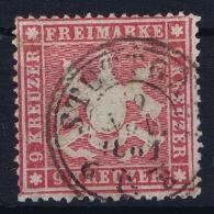 Wurttemberg Mi Nr 19 Ya   Obl./Gestempelt/used  1861 - Wuerttemberg