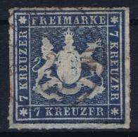 Wurttemberg Mi Nr 35 B   Obl./Gestempelt/used  1863 - Wuerttemberg