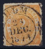 Wurttemberg Mi Nr 37 B Dunkel Orange   Obl./Gestempelt/used  1869 Has A Small Thin - Wuerttemberg