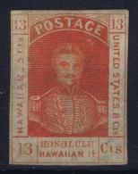 HAWAÏ HAWAII 1853 Mi Nr 6  Sc Nr 5A MH/* Falz/ Charniere - Hawaii