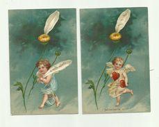 ANGELOT - ANGE - Serie 6 CP Gaufrées Angelot Effeuillant Marguerite Bon état - Angels