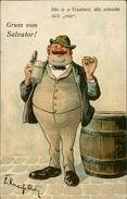 AK München, Gruss Vom Salvator, Bière, Beer, O 1911 (25246) - Muenchen
