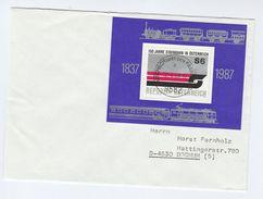 1988 Atschach AUSTRIA COVER Miniature Sheet  RAILWAY Stamps Steam Train - Trains