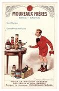 CARTE PUB - MOUREAUX FRÈRES - Confitures, Concerves De Fruits - Illustrateur Firmin Bouisset - Advertising